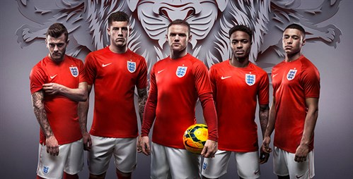 Maillot Angleterre 2014 exterieur