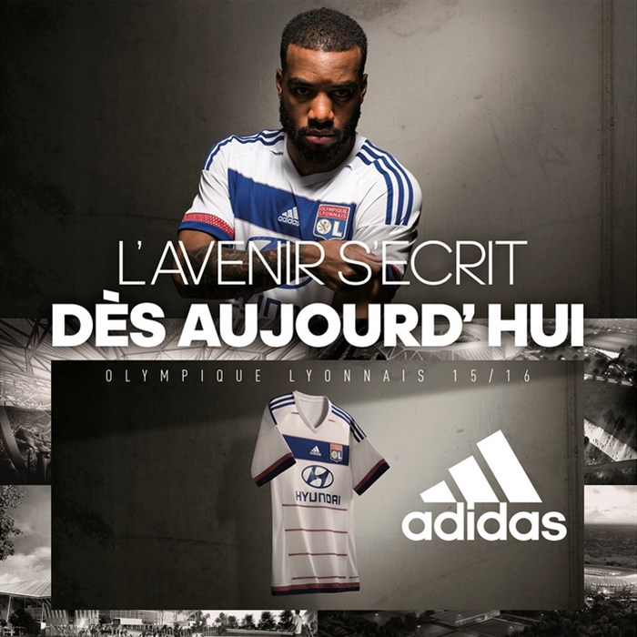 Maillot OL domicile 2015-16 Adidas