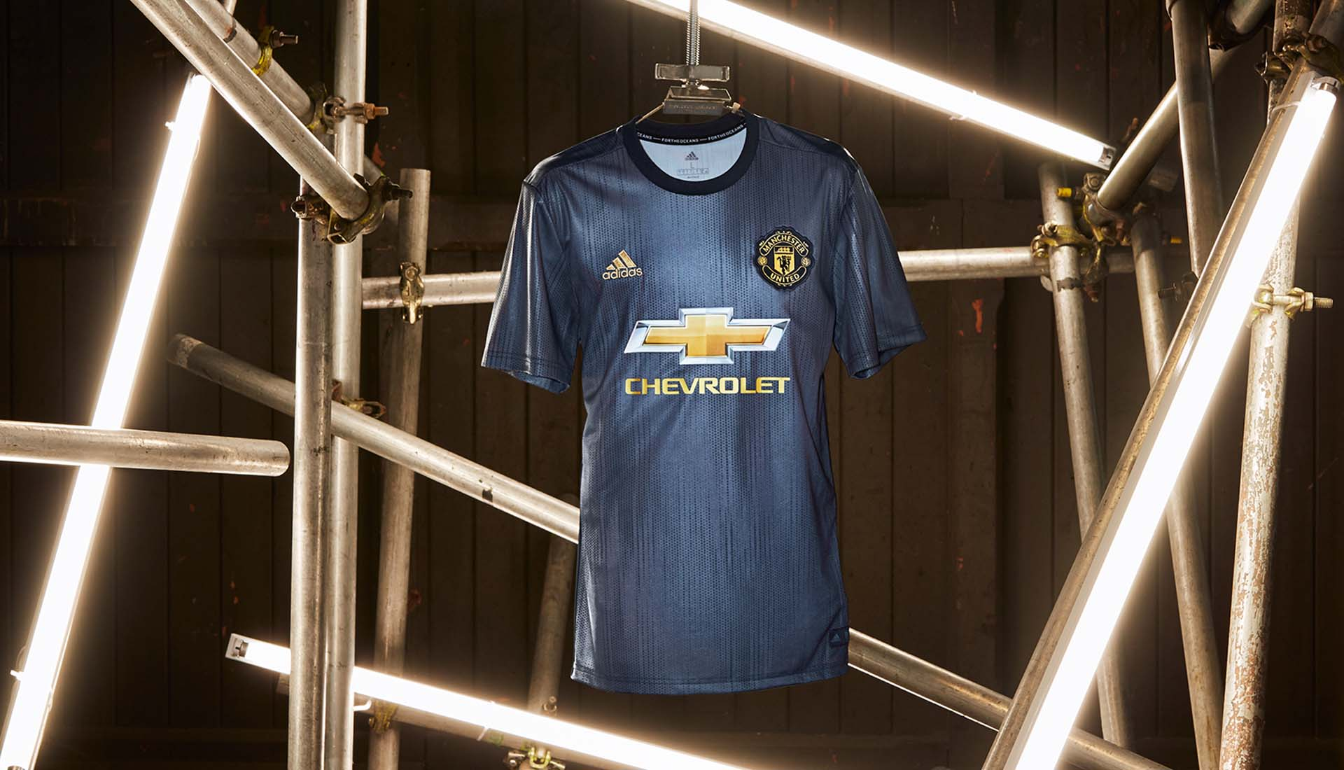 Veste de survetement Manchester United Bleu Saison 20182019