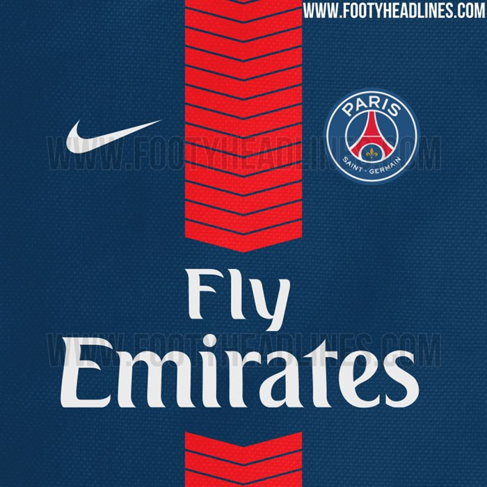 Paris -saint -germain -shirt -2017-2018-gelekt